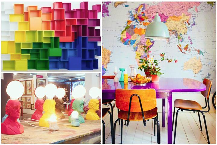 Cores vibrantes, Fun Design, decoração de interiores, Tendências na decoração